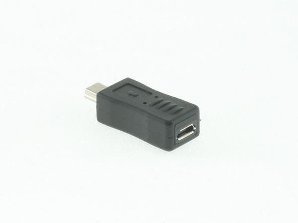 Mini USB Male to Micro USB Female Adapter / Connector / Converter