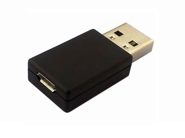 Straight USB A Male to to Micro USB Female Adapter / Converter