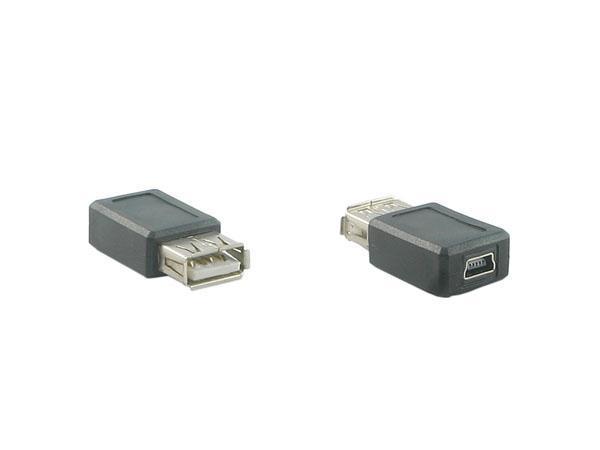 USB A Female to Mini USB Female Converter / Adapter