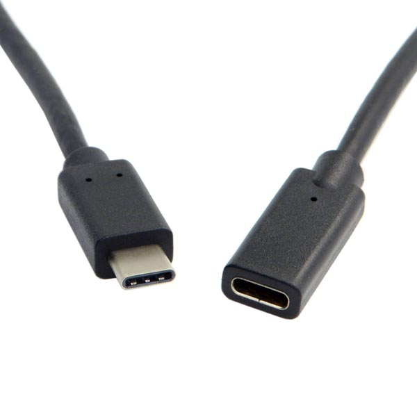 60cm (2 feet) Long USB-C Female to Male Cable Adapter / Extender / Extension Cable