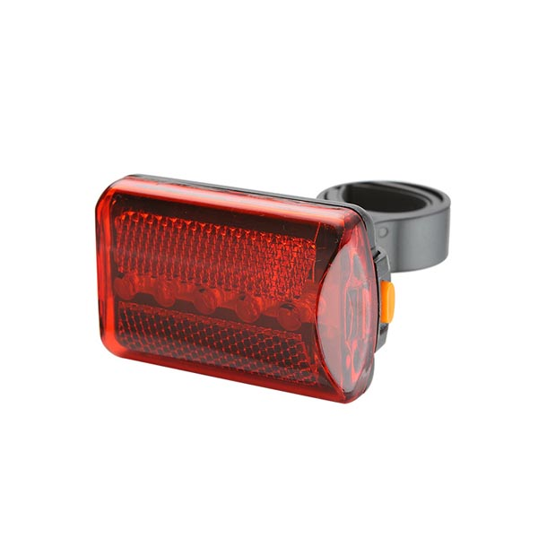 Quick-Release 5-LED 3 Modes Bike Rear Light / Tail Light / Cycling Safety Flashlight (Red)