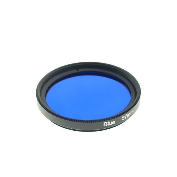 37mm Grade 3 (#3) Solid Color BLUE Filter Lens