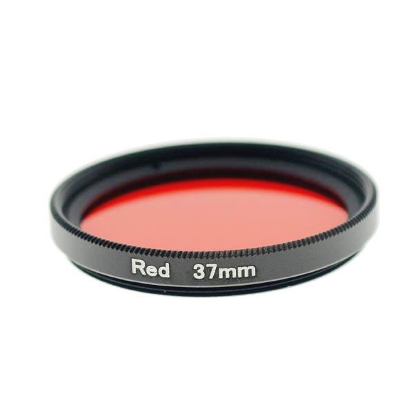 37mm Grade 3 (#3) Solid Color Red Filter Lens