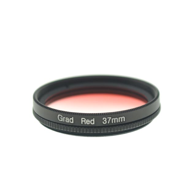 37mm Graduated Red Lens Filter