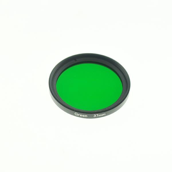 37mm Grade 3 (#3) Solid Color Green Filter Lens