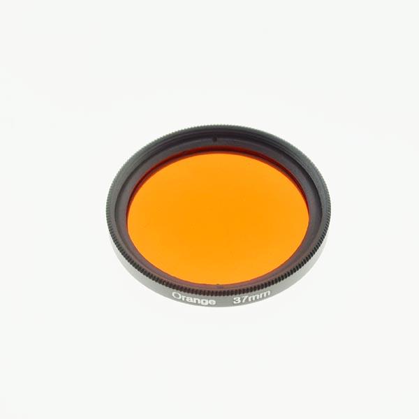37mm Grade 3 (#3) Solid Color Orange Filter Lens