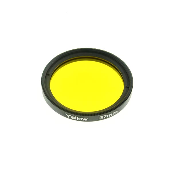 37mm Grade 3 (#3) Solid Color Yellow Filter Lens