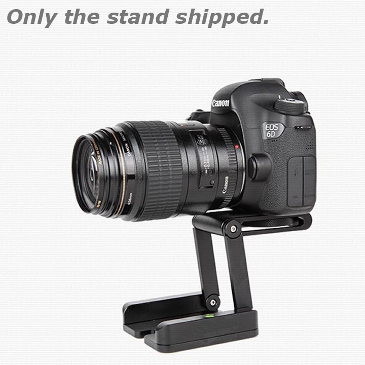Quick Release Plate Folding Z Flex Tilt Head Camera Bracket Tripod Ball Head with Spirit Level