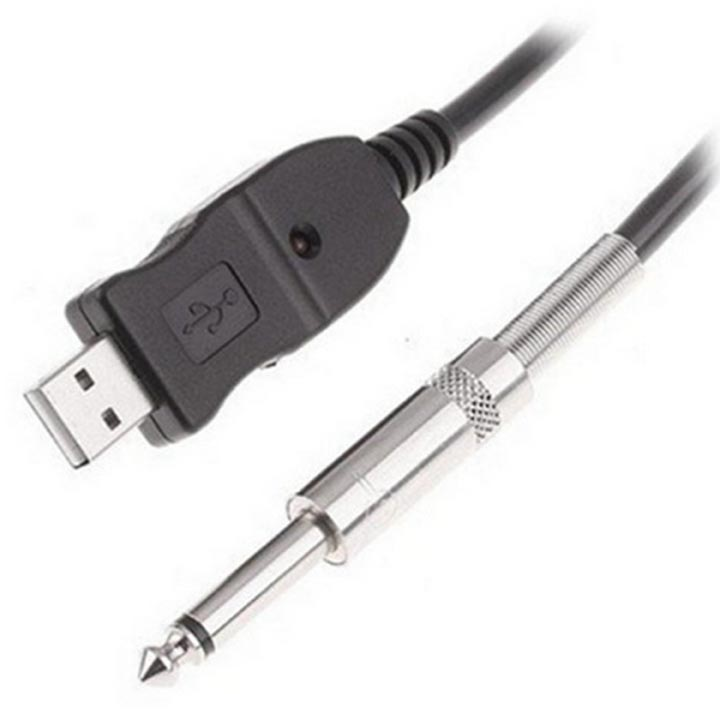 10Ft / 3M USB Guitar Cable Guitar Bass to PC USB Recording Cable (Guitar Bass To USB Link Cable)
