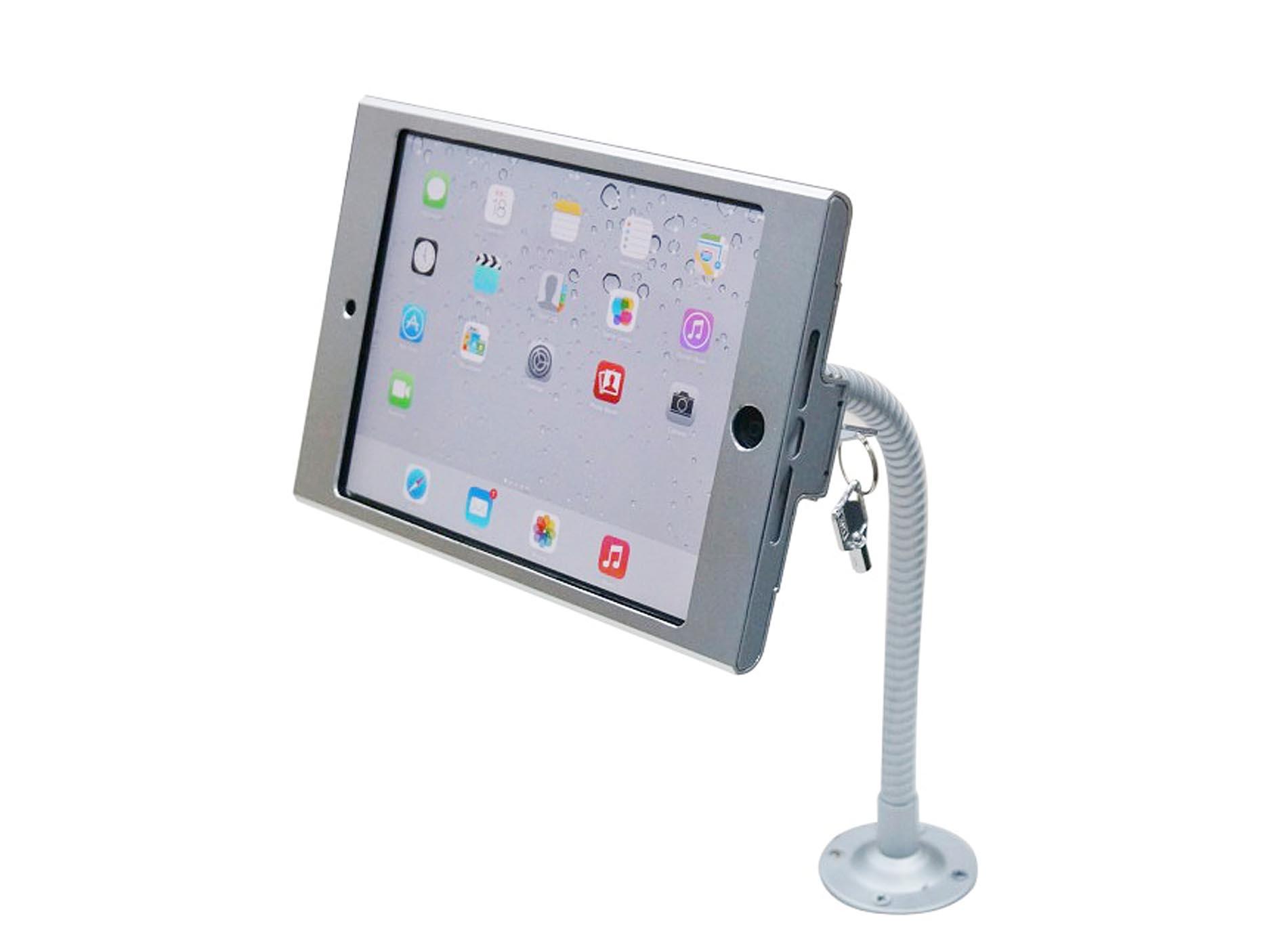 flexible gooseneck wall mount kiosk stand for ipad mini 4 ipad mini 3
