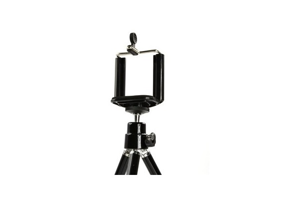 Spring C-Clip / Mount / Holder for Smartphone on Camera Tripod - Click Image to Close