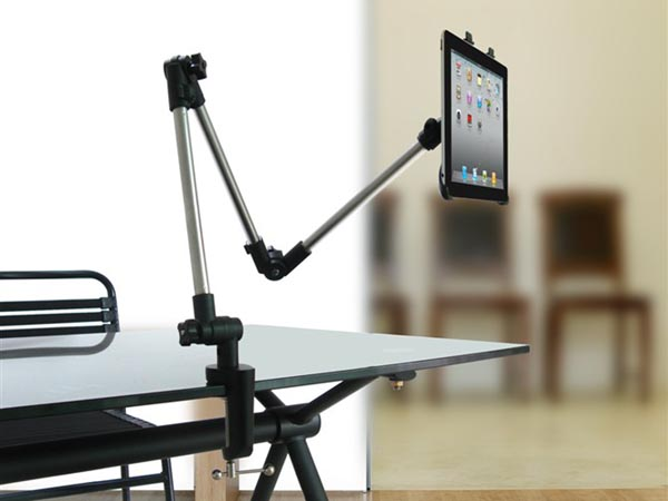 Adjustable Extra Long / Arm Extension Table / Desk / Shelf Mount / Holder For iPad / Tablet Computer