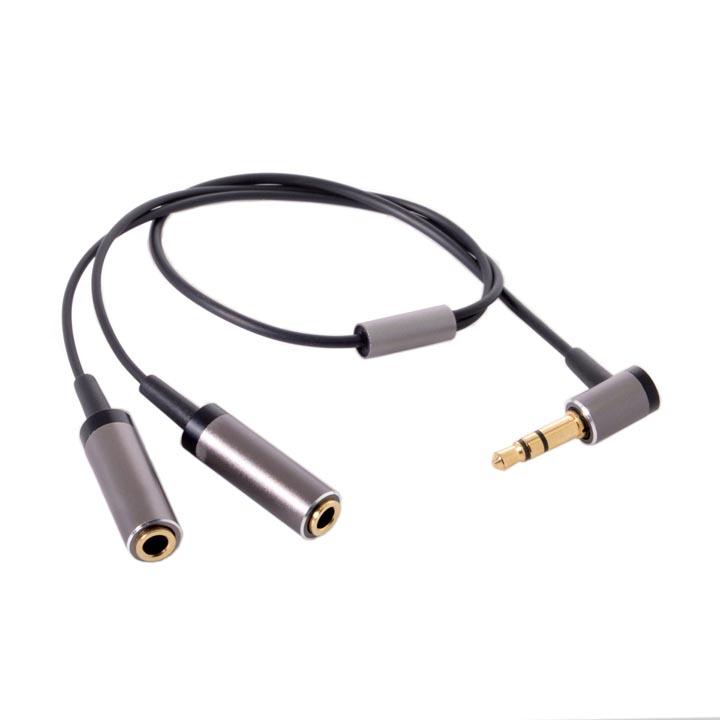 Angled 3.5mm Aux Audio Splitter / Y-Splitter for Smartphones / MP3 / Music Players / Headphones