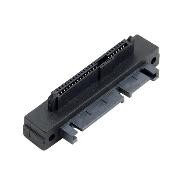 Right Angled 90 Degree SFF-8482 SAS 22 Pin to 7Pin + 15 Pin SATA Hard Disk Drive Raid Adapter