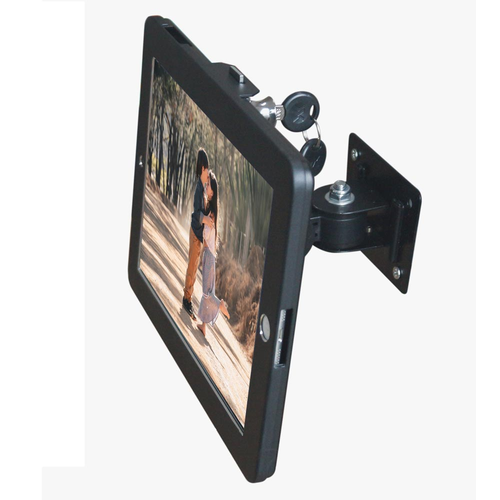 Anti Theft Multi Angle Swivel Wall Mount, Ceiling, Desk, Cabinet Holder for iPad / Galaxy Tablets