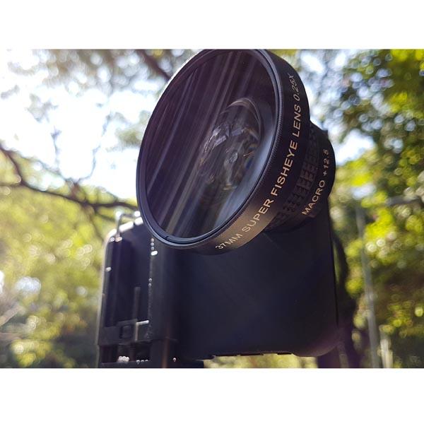 OEM Customized iPhone 8 / iPhone 8 Plus SLR 37mm 0.25X Super Fisheye (+ Macro Lens) Photography Set
