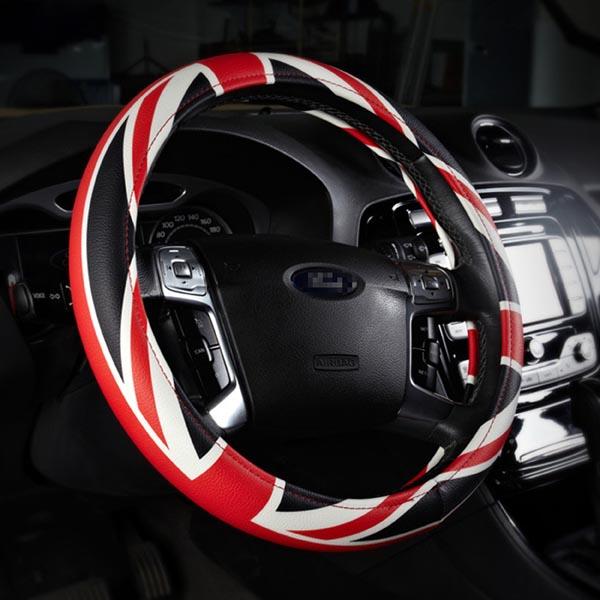 38cm British Style / Union Jack / UK Flag Steering Wheel Cover