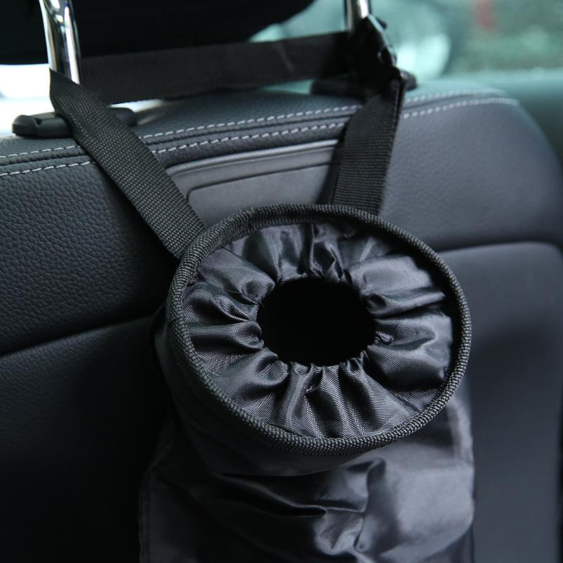 Auto Trash Bag / Vehicle Garbage Bag / Back Seat Hanging Rubbish Bag / Leakproof w/ Adjustable Strap