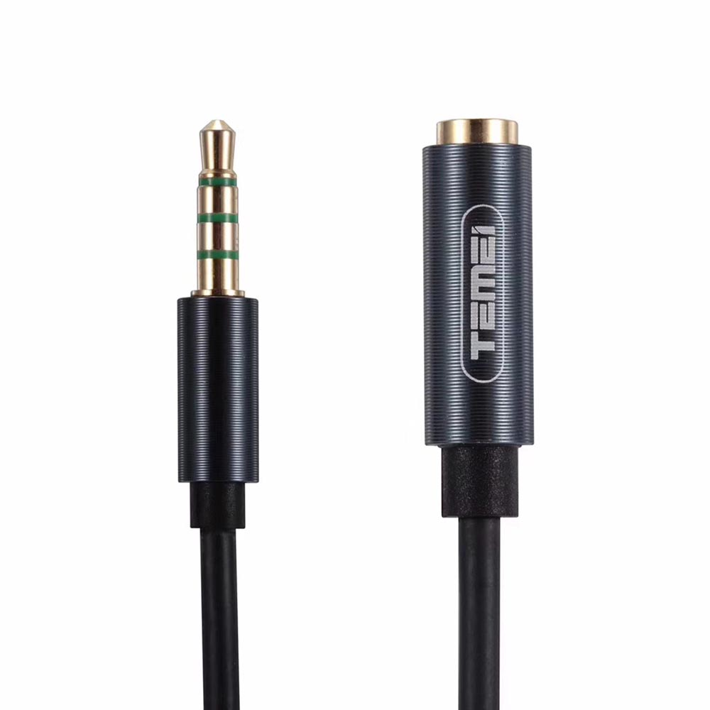 3 Feet / 1 Meter 3.5mm 4-pole Male to Female Aux Audio Cable for iPhone, iPad, Smartphones, Tablets