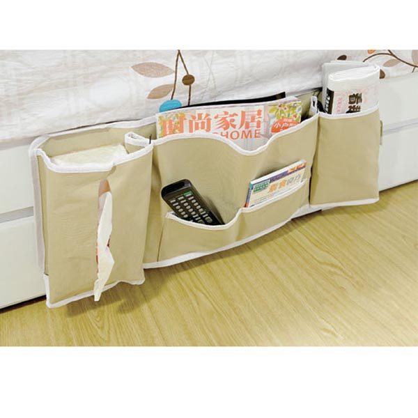 Bedside Storage Organizer / Hanging Bag / Caddy for Books / iPhone, iPad, Phones, Tablets