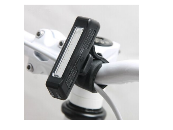 White Bicycle / Bike Front Light for Safety / Warning (USB Rechargeable)
