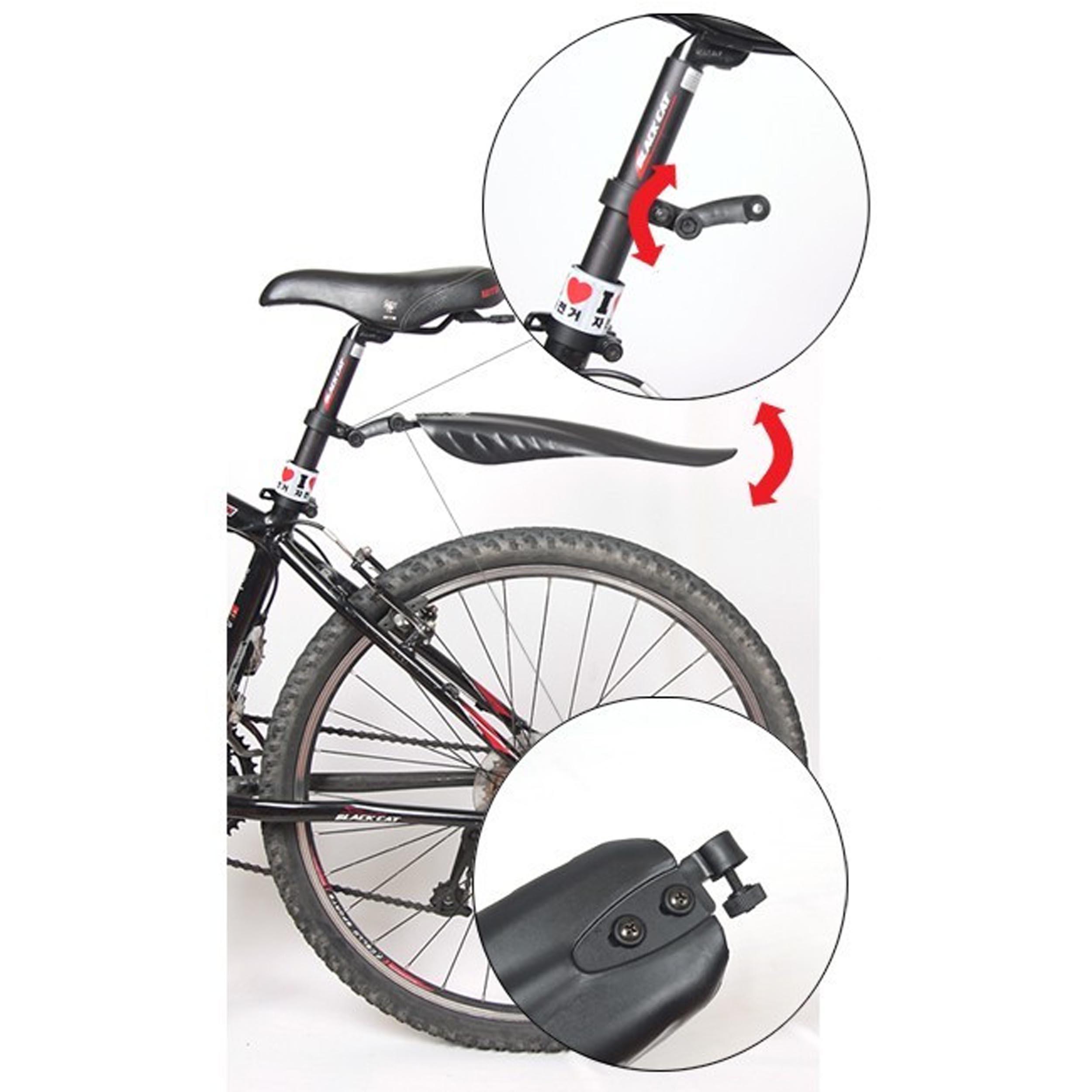 Bike MudGuide for Rear Wheel & Front Wheel (Detachable Bicycle Tire Fender Set)