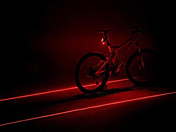 Waterproof Super Bright & Exquisite LED Laser Bicycle Rear Light & Safety Warning Light