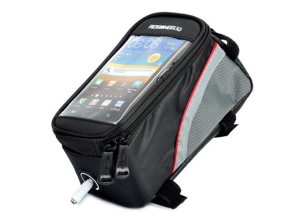 Bike / Bicycle Top Tube Belt Bag with 3.5mm Aux. Cable for 5.3 inches Screen Phone / iPhone