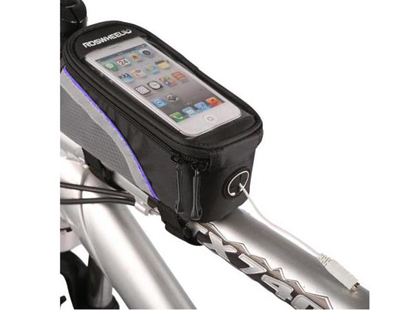 Bike / Bicycle Top Tube Belt Bag with 3.5mm Cable for 4.0~4.2 inches Screen (iPhone 5s / iPod)