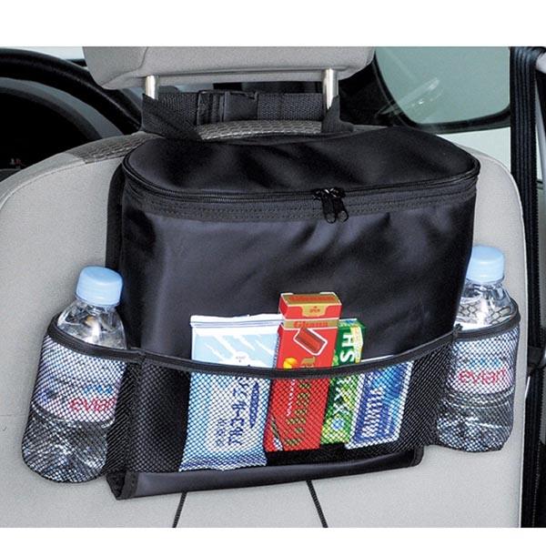 Car Back Seat (Headrest) Organizer for Food, Drink Thermos pocket / Tissue Holder / Mesh Pockets