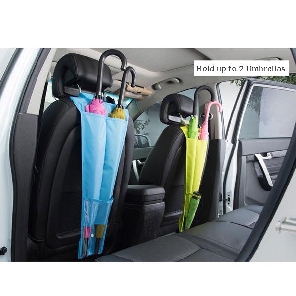 Car Backseat Umbrella Holder / Waterproof Umbrealla Bag / Cover / Organizer