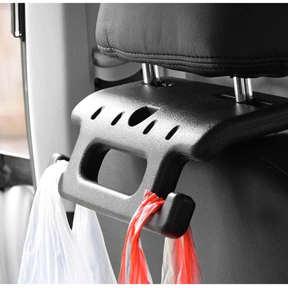 Car Back Seat Hand Grip / Auto Head Rest Handle / Hanger Hook and Oragnizer for Bag, Cloth, etc.