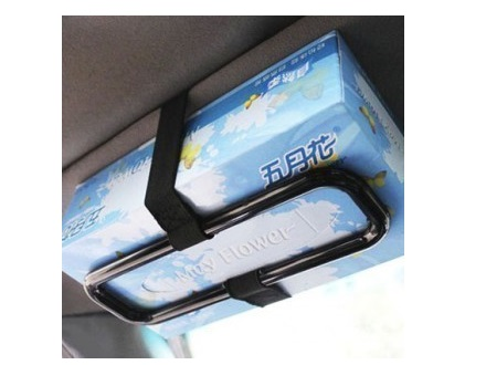 Car Sun Visor Tissue Box Holder / Back Seat / Headrest Tissue Holder / Mount - Click Image to Close