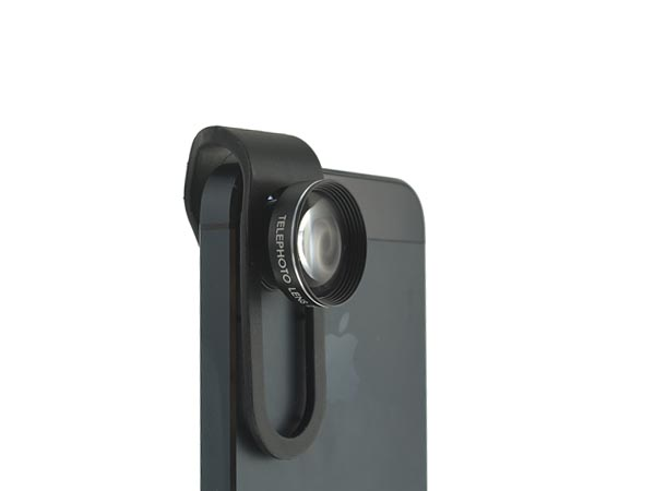 Clip-Slide 2X Zoom Telephoto Lens for iPhone / iPad / Samsung Galaxy / HTC / LG / Sony Xperia Phones - Click Image to Close