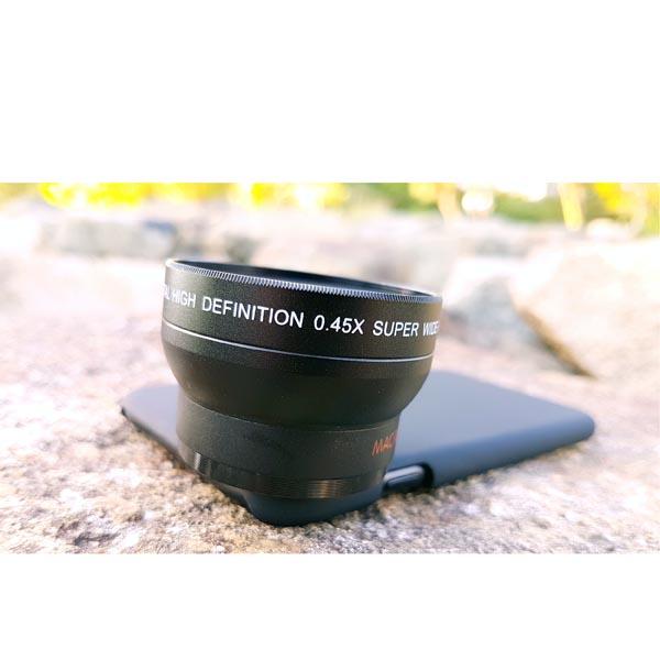iPhone 8 Plus / iPhone 8 SLR 37mm 0.45X Super Wide Angle (+ Macro) Camera Lens Set