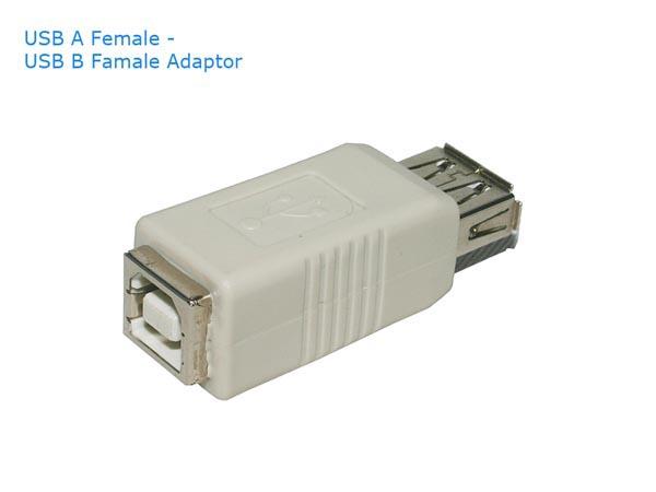 USB Adapter (USB A Female - USB B Female Converter)