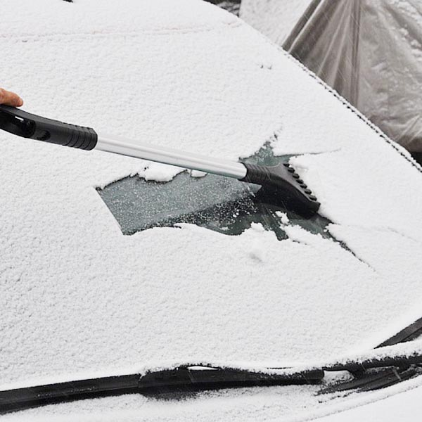 Extendable Windshield Ice Scraper with Snow Broom