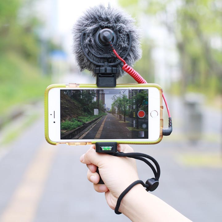 Universal Filmmaker's Rig / Film-making Grip with Strap, Tripod Mount for Smartphone / iPhone