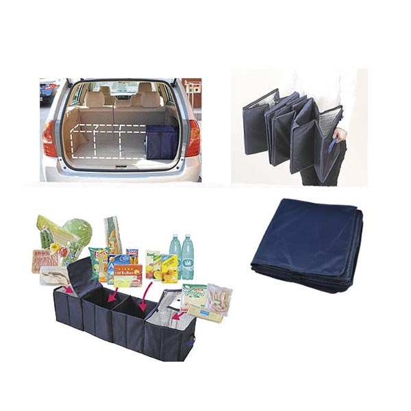 Foldable 4-Compartment Trunk Organizer for Car, SUV, Truck, MiniVan