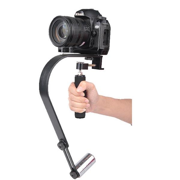 SLR / DSLR Cameras / Phone / iPhone / GoPro Stabilizer / HandGrip w/ CounterWeight & Bubble Level