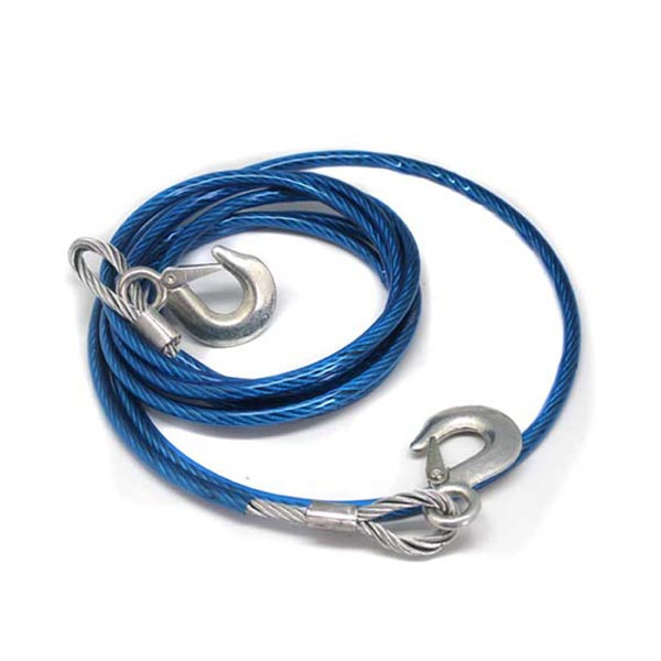 High Tension Tow Cable / Steel Wire (Rope) with Hooks for Car / Auto / Boat / Vehicle / Yacht