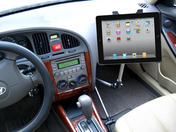 Universal Seat Rail or Floor Car / Truck Mount for iPad Pro, iPad 7, iPhone / Samsung Galaxy Tablets