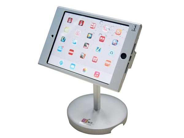 Heavy Duty Alloy Desktop / Table Demonstration Stand for iPad Mini / iPad Pro with Secure Lock