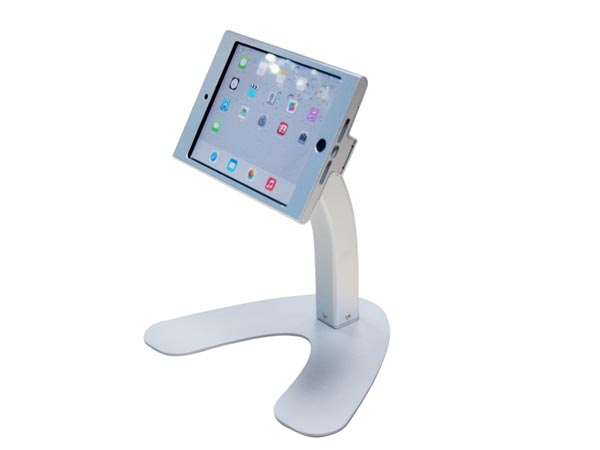 Desk Anti-Theft POS Stand Holder Enclosure with Lock & Key for for iPad Mini / iPad Pro / iPad Air