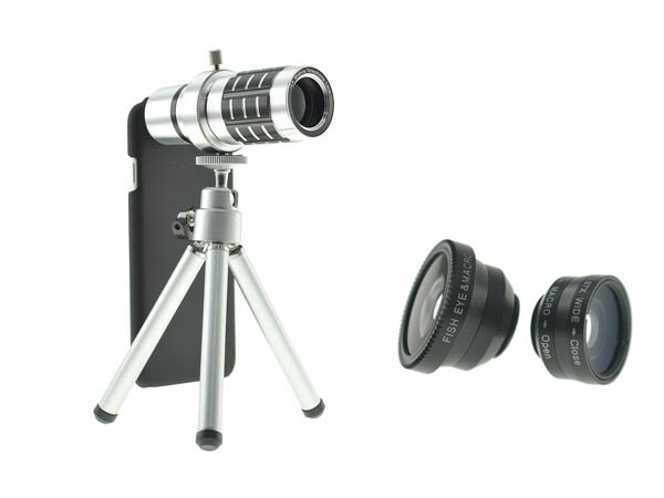Lens Kit for iPhone 8 Plus and iPhone 8 - 4in1- 12x Telephoto / Fisheye / Wide Angle / Macro Lenses