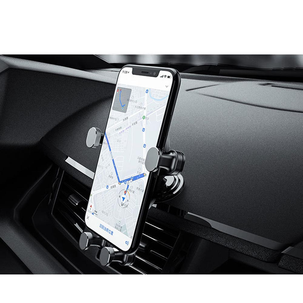 Gravity / Auto-Lock / Auto-Clamping Car Dashboard / Desktop Mount for iPhone / GPS / Smartphones