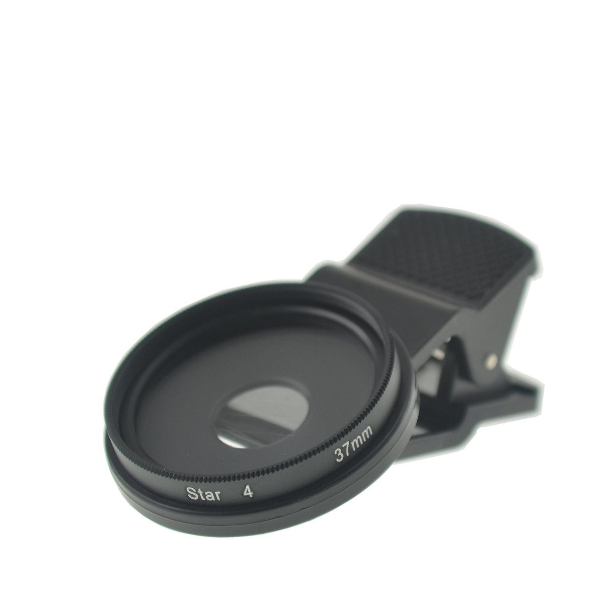 Cloth-Clip Pro 37mm Thread Cross Star Filter Lens (4 Points) for iPhone / iPad / Cell Phones