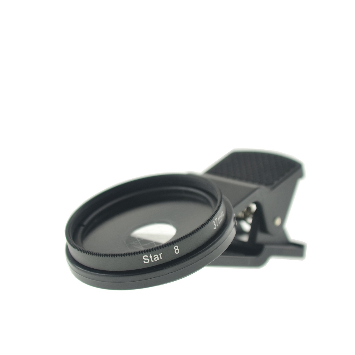 Cloth-Clip Pro 37mm Thread Cross Star Effect Filter Lens (8 Points) for iPhone / Cell Phones