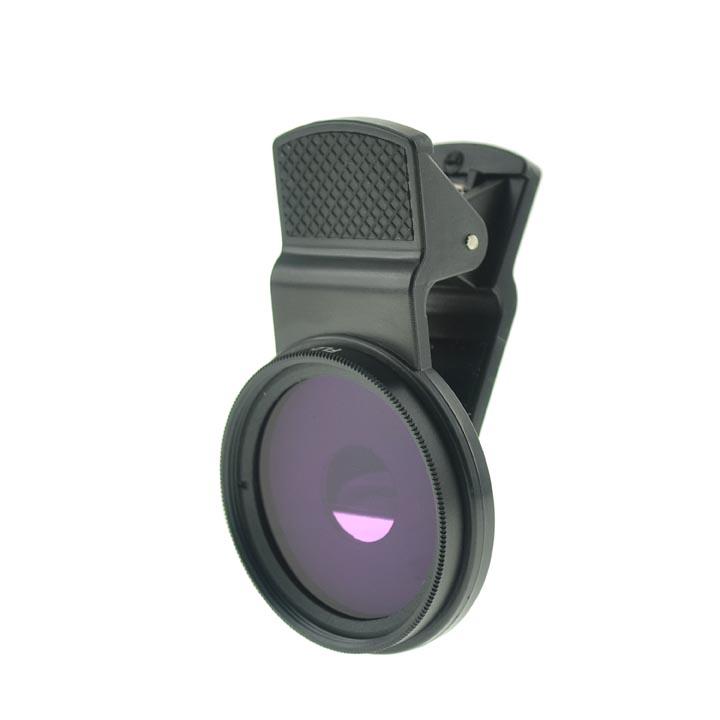 Cloth-Clip Pro 37mm Thread FLD (Purple FL-D / Fluorescent Lighting Daylight Filter Lens) for Phones
