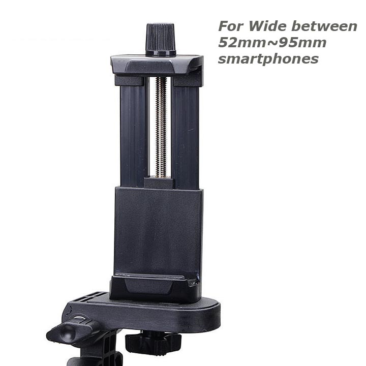 Universal Smartphone / iPhone Tripod Mount Adapter (on Monopod / Selfie Stick for Photography)